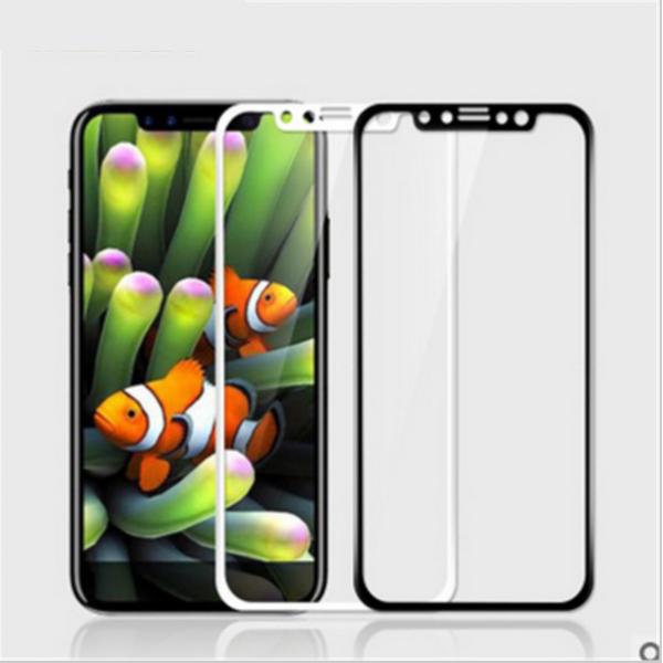 5D Equiptors Стъклен screen protector / Черен и Бял / за iPhone X 5.8
