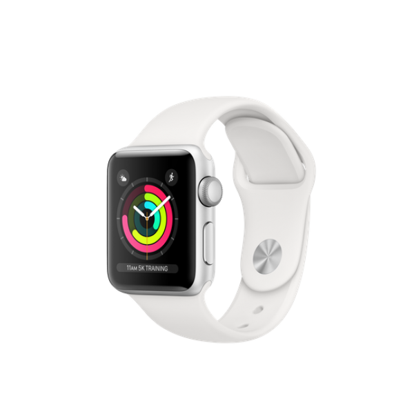 Bracelet Apple Watch Series 3 8GB silver 42mm white sport band