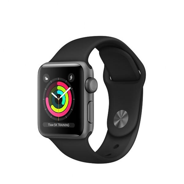 Bracelet Apple Watch Series 3 8GB space gray 38mm black sport band