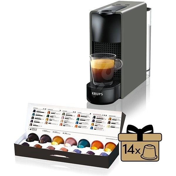 Nespresso Essenza Mini Krups Pure Black C30 + подарък